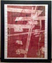 "The Carrier Blood, Salt, Bleach, Ink on Paper 22"" x 30"" 2013"