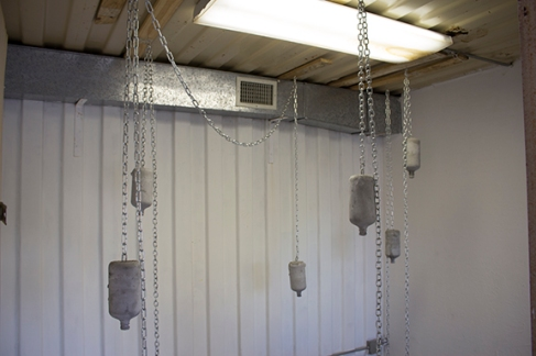 The Weight of Your Gifts (Bottles), Chains, Cement, 2015